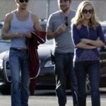 Anna Paquin and Ryan Kwanten on the set of True Blood