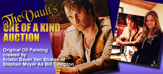 The charity auction of Kristin Bauer's Bill Compton painting is now live