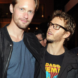 Alexander Skarsgård and Ryan Kwanten party at the Hard Rock Hotel