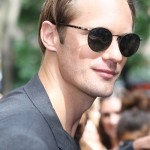 Alexander Skarsgård on the set this week in New York City