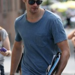 "Alexander Skarsgård Walks to the ""What Maisie Knew"" Set"