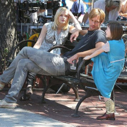 More photos of Alexander Skarsgård on the set of 'What Maisie Knew'
