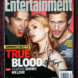 Entertainment Weekly Auction Quickie signed by Anna Paquin and Stephen Moyer