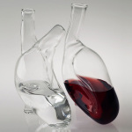 "Cardiac Inspired ""Cuore"" Glass Flask"
