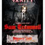 Sam Trammell in Las Vegas at Vanity Night Club Saturday Oct. 29