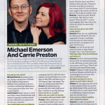 Carrie Preston and Michael Emerson Featured in Entertainment Weekly