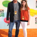 Chris Meloni with daughter Sophia at Kids' Choice Awards