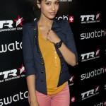 Janina Gavankar attend Swatch Art Rules Night at Royal T