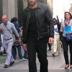 Joe Manganiello Looks Hot in Leather in Madrid, Spain