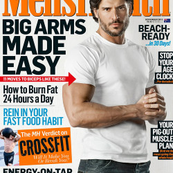 Joe Manganiello Shows his Biceps on the Cover of Men's Health Magazine