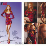 True Blood Jessica wardrobe poster signed by Deborah Ann Woll and Audrey Fisher sold for the CRF