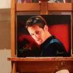 Posters of Stephen Moyer painting by Kristin Bauer now available, Alexander Skarsgård portrait to be auctioned next