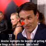 Stephen Moyer wouldn't mind directing Anna Paquin in a steamy scene