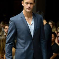 Alexander Skarsgård attends the Calvin Klein Collection fashion show