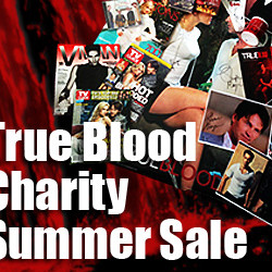 True Blood Summer Sale Donations to Charity