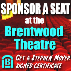 Stephen Moyer signs certificates for Brentwood Theatre's 'Buy a seat'