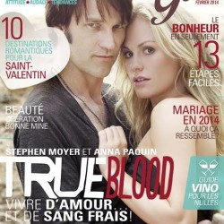 """Anna Paquin and Stephen Moyer Cover French Canadian Magazine """"Summum Girl"""""""