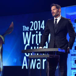 Joe Manganiello attends and presents at the 2014 Writers Guild Awards