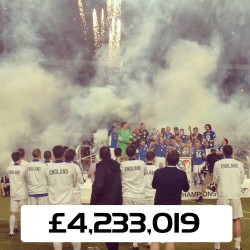 Stephen Moyer at Soccer Aid 2014 helping to raise £4.2 Million
