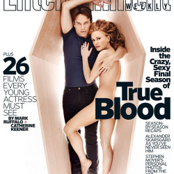 Anna Paquin and Stephen Moyer revealing on EW cover