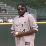 Nelsan Ellis throws first pitch at Chicago White Sox Game