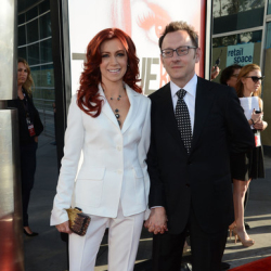 "Carrie Preston and Michael emerson in ""Actors Aloud"" Panel"