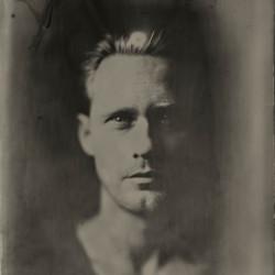 Tintype portrait of Alexander Skarsgård