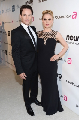 Stephen Moyer and Anna Paquin at 2013 Elton John Oscars Viewing Party
