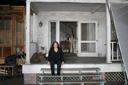 The Vault's reporter Jodi on the steps of Gran's house