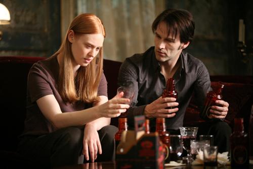 Deborah in a scene with Stephen Moyer