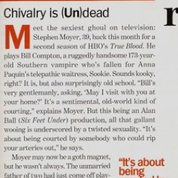 Stephen Moyer featured on Marie Claire