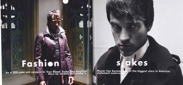 Stephen Moyer fashionable in FHM Magazine