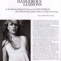 Anna Paquin featured on Elle UK