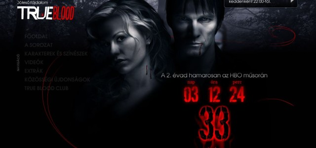 Hungarian True Blood Web site for Season 2 launch