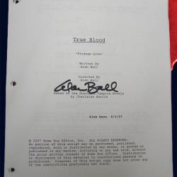 Win an original True Blood pilot script signed by Alan Ball