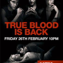 True Blood Season 2 posters in the London Underground