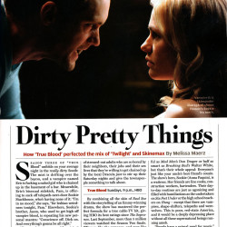 True Blood in Rolling Stone – Dirty Pretty Things