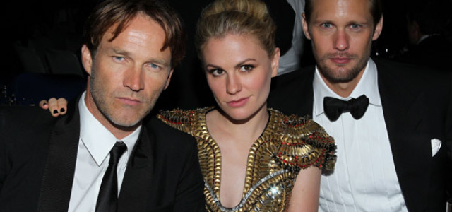 Alexander Skarsgård, Anna Paquin and Stephen Moyer attend the Emmy Awards Governor's Ball