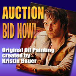LAST CHANCE to place your bid on Stephen Moyer portrait painted by Kristin Bauer