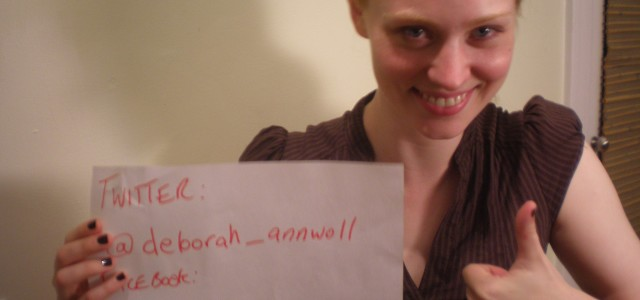 Deborah Ann Woll proves her online identity with photo