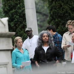 "Photos of Nelsan Ellis on location for ""Gods Behaving Badly"""