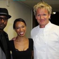 Nelsan Ellis and Nondumiso Tembe attend VIP Charity Dinner