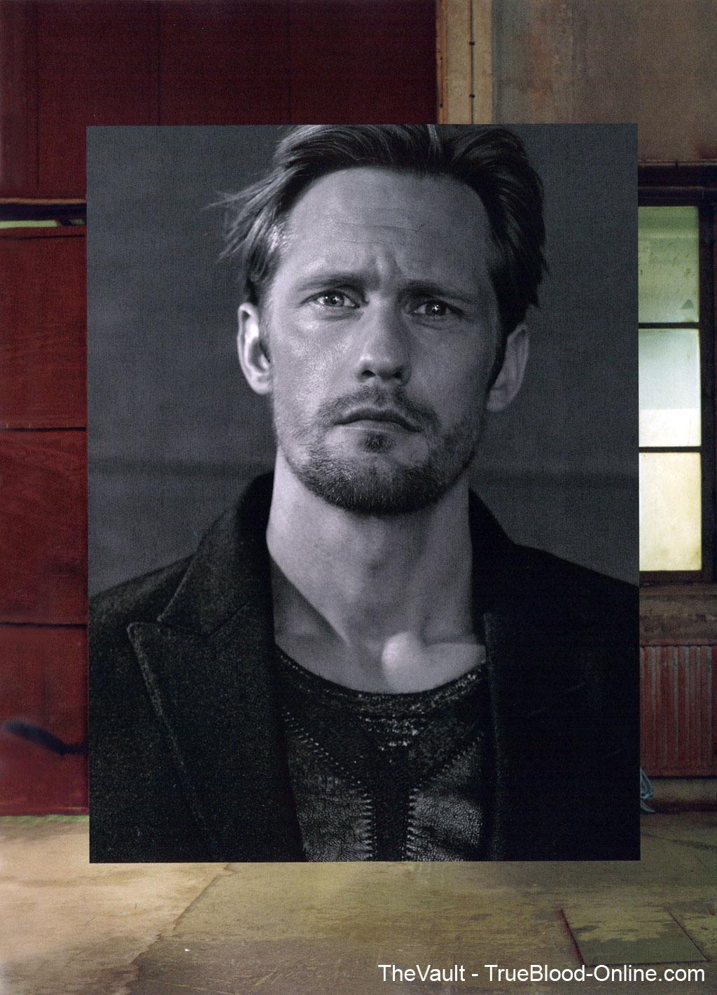 Scans of Alexander Skarsgård in GQ German Magazine   TrueBlood ...