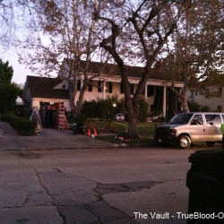 Meeting up with Terry, Arlene and Andy on the True Blood set