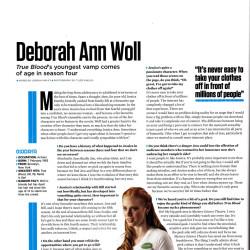 SFX Magazine Interviews with Deborah Ann Woll and Charlaine Harris