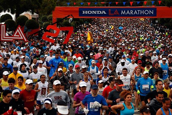 2012 LA Marathon Start Line