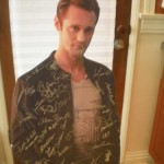 LAST CHANCE to win the signed Alexander Skarsgard cardboard cutout