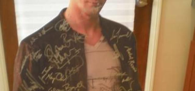LAST CHANCE to win the signed Alexander Skarsgard cardboard cutout