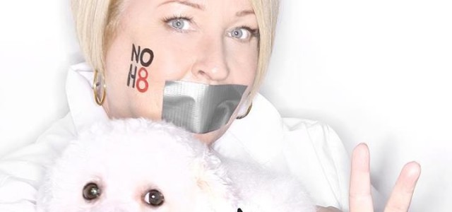 Dale Raoul supports NOH8 campaign with photo shoot