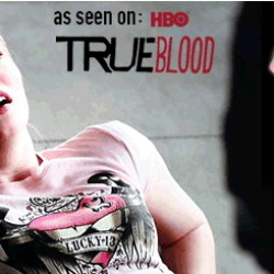 Jessica's Pink Crowned Heart True Blood Finale t-shirt is available online
